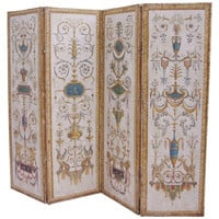 19th Century Painted Screen Divider
