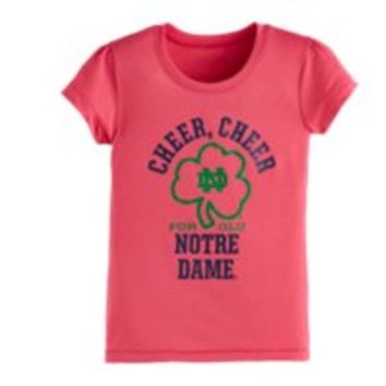Under Armour Girls' Infant UA Cheer Cheer Notre Dame Short Sleeve