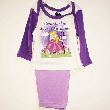 Baby Girls Little Miss Bo Peep Pyjamas