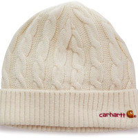 Carhartt Women's  Cable Knit Hat,Winter White Heather (Closeout),One Size