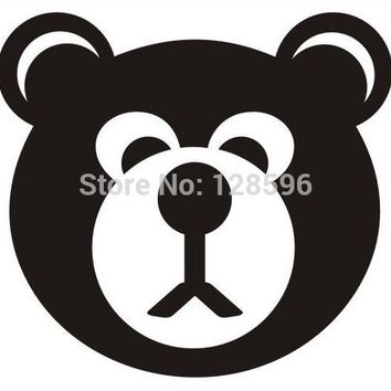 Scary Bear Funny Car window Vinyl Sticker Decal Truck Bumper Laptop Gift AUTO Boat JDM and all the smooth surface Decor Style