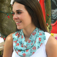 Anchor Neck Scarf-Mint