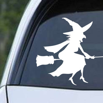 Witch on Broom (c) Die Cut Vinyl Decal Sticker