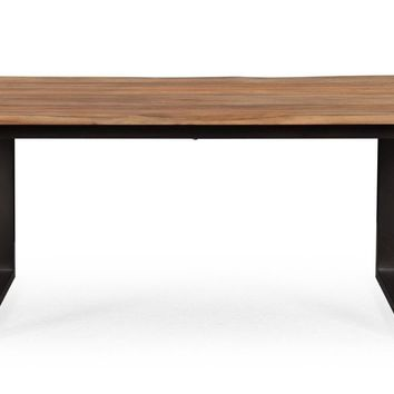 Carter Rustic Industrial Elm Dining Table