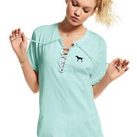Campus Lace-Up Tee - PINK - Victoria's Secret
