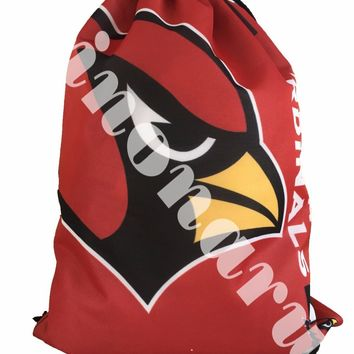 Arizona Cardinals Drawstring Bags Men Backpack Digital Printing Pouch Customize Bags 35*45cm Sports Fan Products