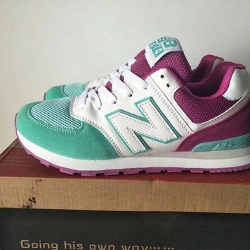 QIYIF new balance 574 women sport casual multicolor n words sneakers running shoes  5