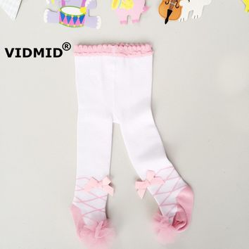 37a2ea7be VIDMID Baby girls Pantyhose stockings tights kids girls white Pa