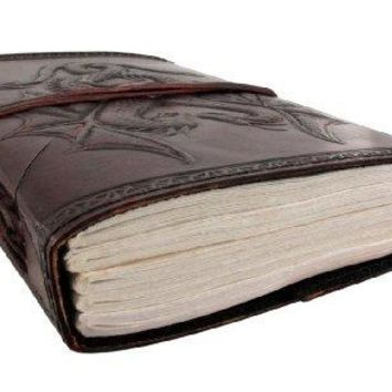 Embossed Leather Dual Dragons 120 Leaf Journal by Things2Die4