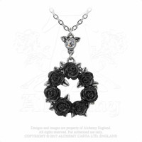 Alchemy Gothic Ring 'O Black Roses Pendant Necklace