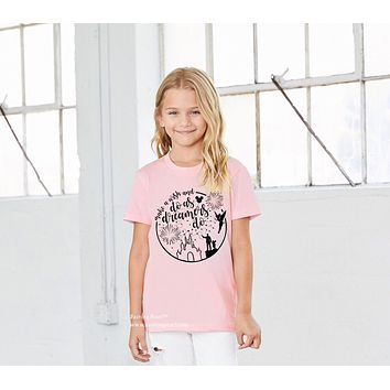 "Walt Disney ""Make A Wish and Do As Dreamers Do"" Kid's Unisex Tee"
