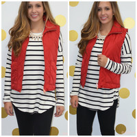 SZ SMALL Best Of The Vest Red Puffer Vest