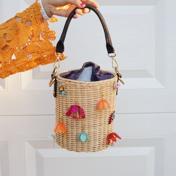 Wicker Basket Bag Trend purse Rattan Bag Bali