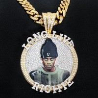"""Custom Create Your Picture Fully Iced Out Medallion 2""""Inches"""