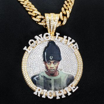 "Custom Create Your Picture Fully Iced Out Medallion 2""Inches"