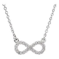 Petite Diamond Infinity Necklace