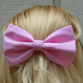 Cotton candy sparkle pink bow hair clip - big bow - bow barrette - kawaii - feminine