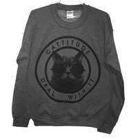 Cattitude Sweatshirt -- Medium