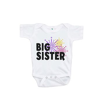 Custom Party Shop Baby's Big Sister Happy New Year Onepiece