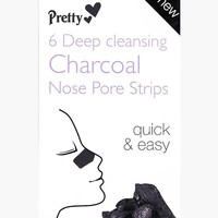 Cleansing Charcoal Nose Strips 6 Pack | Boohoo