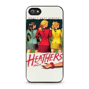 heathers broadway musical iphone 5 5s se case cover  number 1