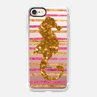 Glamour Seahorse Salsa (transparent) iPhone 7 Case by Lisa Argyropoulos | Casetify
