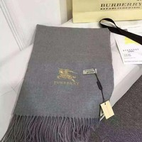 Burberry Women  Men Personality Winter Warm Sunscreen Scarves Scarf Accessories Grey I
