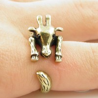 Gold Giraffe Wrap Ring - SIZE 9