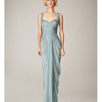 (PRE-ORDER) Mignon Spring 2014 Dresses - Blue Mist Beaded Gathered Sweetheart Prom Dress