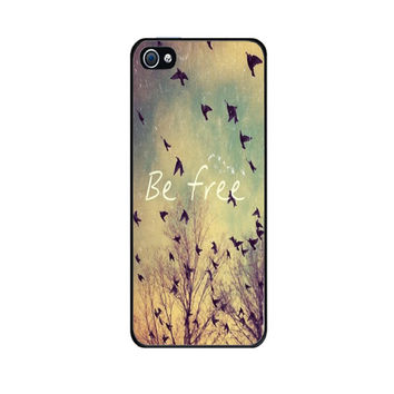 Handmade case with custom design of Be Free Birds for iPhone 4 / 4S Case For Galaxy S4 Be Free Birds Galaxy S3 iPhone 5 Case