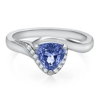 Tanzanite & Diamond Ring in Sterling Silver - Shop All Jewelry - Jewelry - Helzberg Diamonds