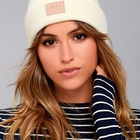 Obey Briean Cream Beanie