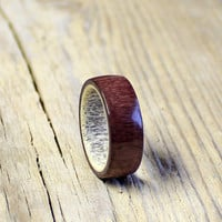 Antler men ring amaranth wood  ring unisex ring