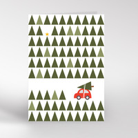 Christmas Trees card by Dicky Bird