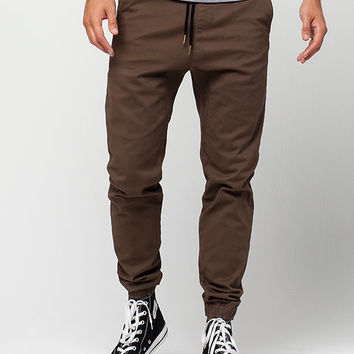CHARLES AND A HALF Mens Twill Jogger Pants | BOGO 50% Off Joggers