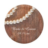 Rustic Pearls Country Wedding Paper Plates