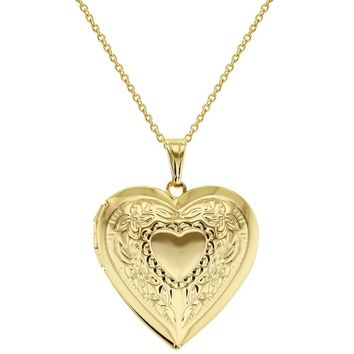 Love Photo Heart Locket Necklace Pendant Memory Remembrance 19""