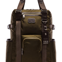 Tumi Alpha Bravo Lejeune Backpack Tote in Army