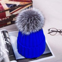Gorgeous Russian Knit Pompom Hat