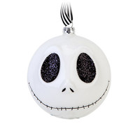 Disney Parks Christmas Ornament Glass Ball Jack Skellington New with Tags