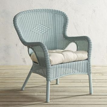 Coco Cove Distressed Light Blue Armchair