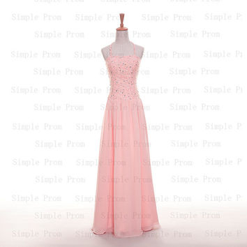 Custom A-line Hlater Floor-length Sleeveless Chiffon Beading Fashion Prom Dress Bridesmaid Dress Formal Evening Dress Party Dress 2013
