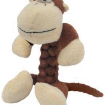 LMFYN5 Knight Pet Runtzees Braid Plush Monkey Small Jackson Dog Toy