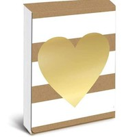 Kraft Heart Notepad