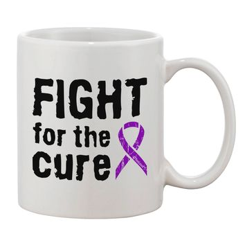 Fight for the Cure - Purple Ribbon Epilepsy Printed 11oz Coffee Mug