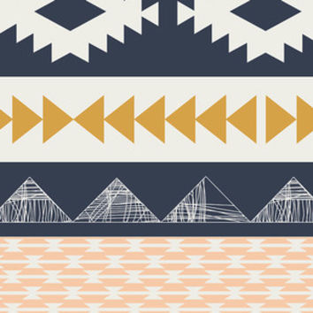 Aztec Gold and Mint Fabric by the Yard | 100% Cotton
