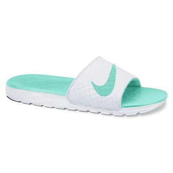 2eec9c2bf6be1 Nike Benassi Solarsoft 2 Women s Slide Sandals (White)