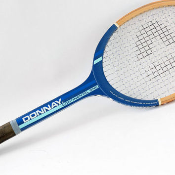 "Vintage DONNAY Wooden tennis racket // Made in Belgium // Old Tennis Racquet ""Continental One"" - 70s 80s"