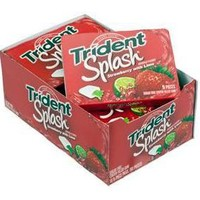 Trident Splash Tab Gum 9-Piece Packs - Strawberry & Lime: 10-Piece Box | CandyWarehouse.com Online Candy Store