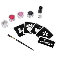 Disney Mickey Mouse & Friends Minnie Mouse Costume Tattoo Kit - Kids (Black/Silver/Red)